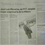 Diario De Navarra: José Luis Moracho, De PVT, Mejor Empresario De La Ribera